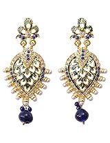 Foppish Mart Sparkling Pearl & Stone Blue Earrings For Women