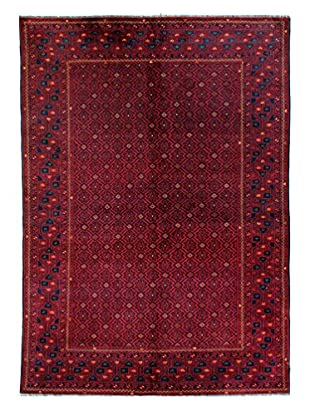Bashian Rugs One-of-a-Kind Hand Knotted Fine Afghan Rug, Red, 5' 4
