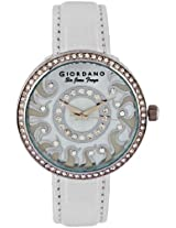 Giordano Analog Silver Dial Women's Watch - 2582-02