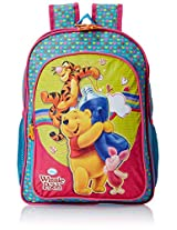 Pooh School Bag WTP Friends with Pouch, Multi Color (14-inch)