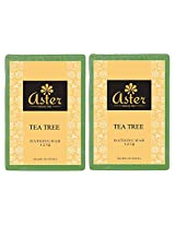 Aster Luxury Tea Tree Handmade Soap - Set of 2