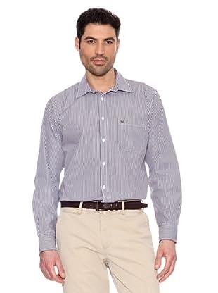 Pedro del Hierro Gestreiftes Hemd (Braun)
