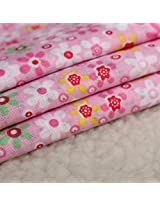 8pcs 40x50cm Cotton Pink Flower Series Sewing Cloth Dolls Purse Handwork DIY Patchwork Fabric