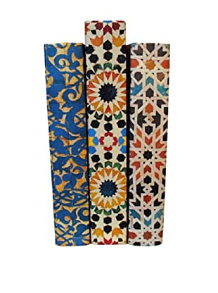 By Its Cover Hand-Rebound Set of 3 Mosaic Decorative Books, III