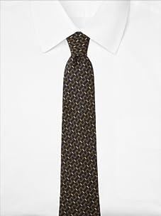Hermès Men's Rings Tie, Navy/Gold, One Size