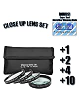 CLASSIC High Definition +1 +2 +4 +10 Close-Up Macro Filter Set + Pouch For The Sony Cybershot DSC-H10, DSC-H5, DSC-H3, DSC-H2, DSC-H1, DSC-F828, DSC-F717, DSC-F707 Digital Cameras