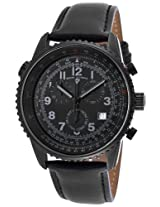 Skyline Chrono Black Genuine Leather Strap & Dial Grey Accents (30721-Bb-01)