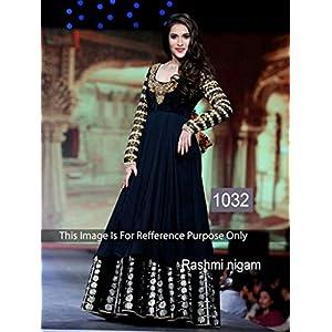 Fashion Wear Stylish Rashmi Black Colored Gown By Manglam Sarees