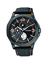 Citizen Eco-Drive AP4005-11E Black Round Dial Chronograph Men Watch