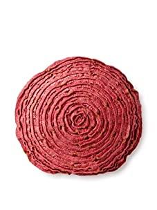 """Mar Y Sol Maybelle 18"""" Round Pillow, Coral"""