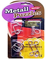 Stuff Jam Stainless Steel 4 Pieces Metallic Intellectual Puzzles For All Age Groups.