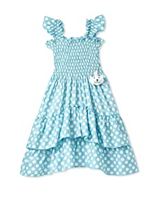 4EverPrincess Girl's Angel Dress (Blue/White)