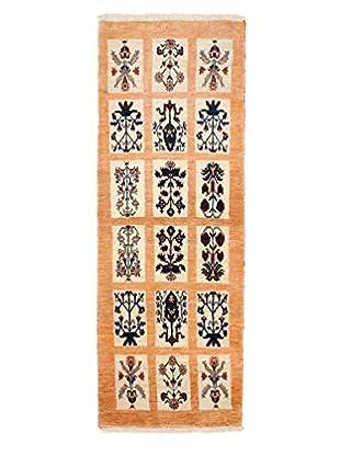 Darya Rugs Authentic Persian Rug, Yellow, 2' 5