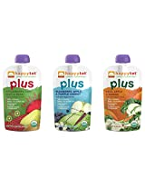 Happy Tot Organic Superfoods Plus Stage 4 Baby Food Pouches Variety Pack of 12