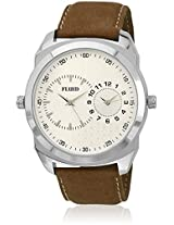 Fl-125-Ips-Wh01 Brown/White Analog Watch Flud