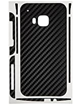 Carbon Fiber armor Back Skin (Black) for HTC One (M9)