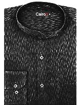 CAIRON BLACK SELF PATTERN CLUBWEAR SHIRT SF-P1676_B_1