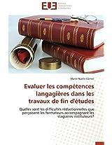 Evaluer Les Competences Langagieres Dans Les Travaux de Fin D'Etudes