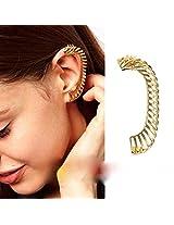 Ashiana Elegant Gold Dragon Neck Ear Cuff