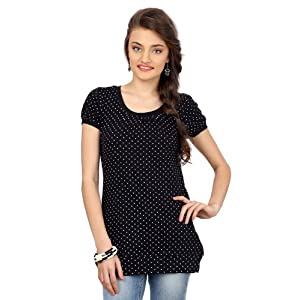 Black and White Polka Dotted Top