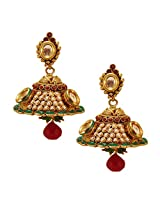 Habors Gold Plated Zara Jhumki Earrings with Pearls