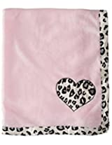 BON BEBE Baby-Girls Newborn Animal Print Plush Coral Fleece Blanket, Multi, New Born