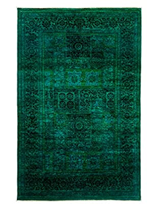 Darya Rugs Ziegler One-of-a-Kind Rug, Teal, 5' 10