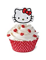 Wilton 24 Count Hello Kitty Cookie Cutter Decorating Kit, Multicolor
