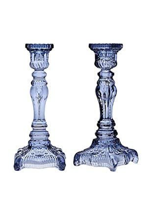 Godinger Pair of Yorktown Candlesticks (Blue)