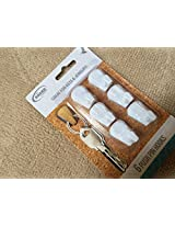 6 Push Pin Hooks Great for Keys and Jewelry (White)