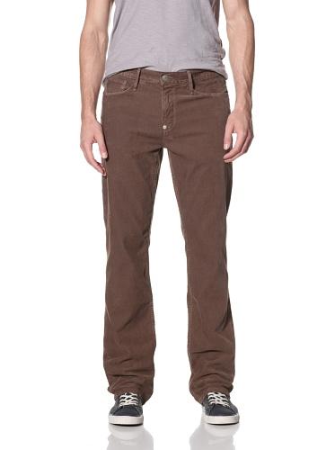 Earnest Sewn Men's Fulton Zip Corduroy Pants (Tobacco)