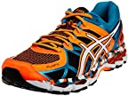 ASICS Men's Gel-Kayano 21 Orange, White and Capri Breeze Mesh Running Shoes - 8 UK