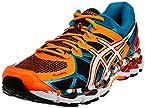 ASICS Men's Gel-Kayano 21 Orange, White and Capri Breeze Mesh Running Shoes - 8 UK