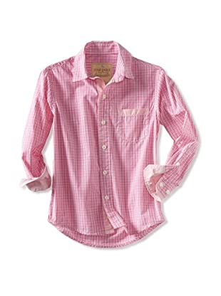 Rose Pistol Boy's Long Sleeve Freemont Check Shirt (Neon)