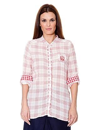 Cortefiel Camisa Cuadros (Rojo / Blanco)