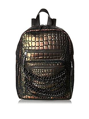 ASH Women's Domino Croco Small Backpack, Metallica
