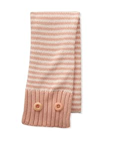 Chloe Girl's Striped Scarf (Salmon)