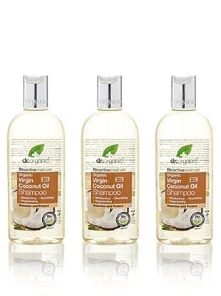 Dr.Organic Set 3 Champús de Coco 265 ml (u)