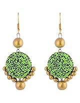 Scorched Earth Alekha Terracotta Hook earrIng SEE8102 Green Ceramic Dangle & Drop For Women