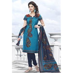Shringaar Ras Blue Women - Dress Material