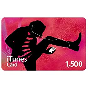 Apple iTunes Music �v���y�C�h�J�[�h 1,500�~ [MA781J/A]