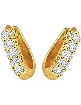 Surat Diamond 18K Yellow Gold Diamond Hoop Earrings