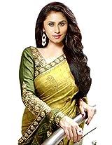 Fabtexo Bhaglpuri Green Color Embroidered Georgette Saree