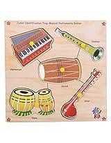 Skillofun Wooden Junior Identification Trays - India Musical Instruments