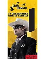 Paper Magic Lone Ranger Valentines with Bonus Pencils (16 Count)