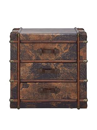 3-Drawer Wooden Chest