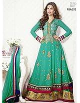 Fabboom Esha Gupta In Black Designer Anarkali Suit