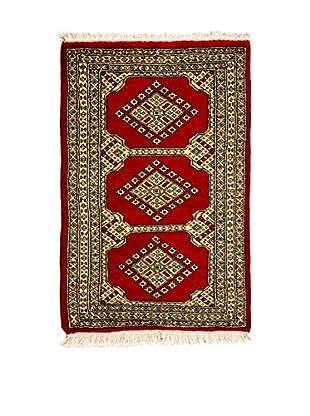 CarpeTrade Alfombra Kashmir Rojo/Marfil 101 x 61 cm