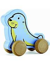 Hape Eco Baby Seal Push-Pull Toy