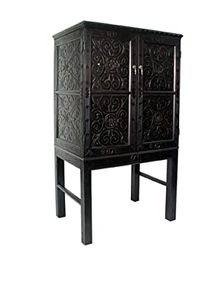 Charleston Benfu TV Armoire, Antique Black